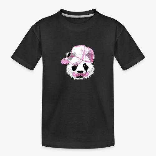 Panda - Pink - Cap - Mustache - Teenager Premium Bio T-Shirt