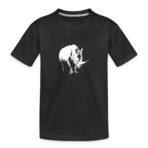 White Rhinoceros (highlights only) - Teenager Premium Organic T-Shirt