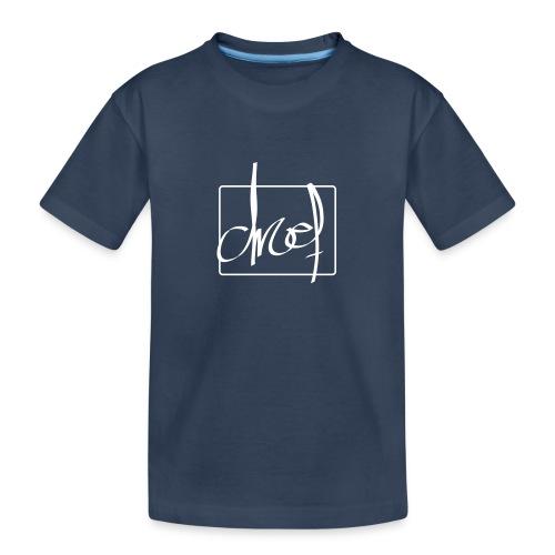 Droef.Gent wit - Teenager premium biologisch T-shirt