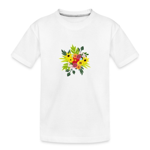 Flower_arragenment - Teenager Premium Organic T-Shirt