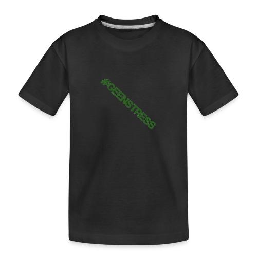 geen stress gif - Teenager premium biologisch T-shirt