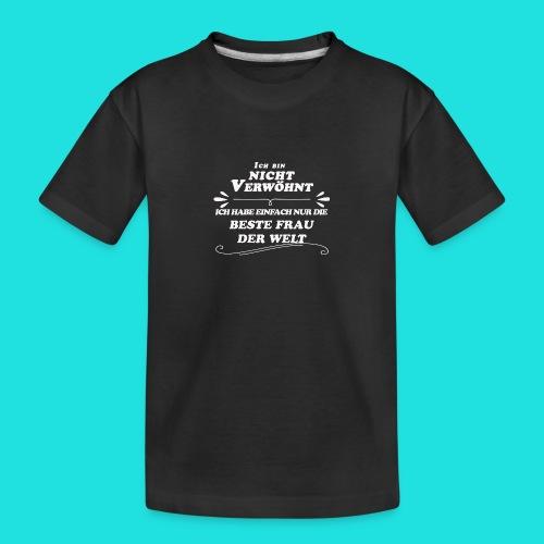 Beste Frau der Welt - Teenager Premium Bio T-Shirt
