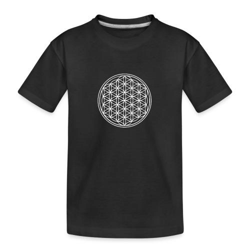 Fleur de vie Blanche - T-shirt bio Premium Ado