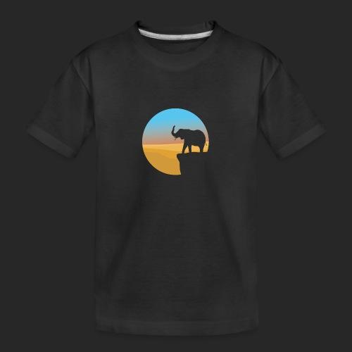 Sunset Elephant - Teenager Premium Organic T-Shirt