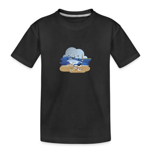 See... birds on the shore - Teenager Premium Organic T-Shirt
