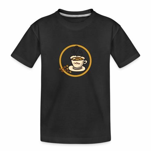 Kaffeeemblem - Teenager Premium Bio T-Shirt