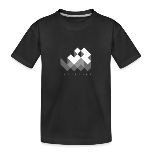 LOGO VIPTRACKS RELEASES - Teenager premium biologisch T-shirt