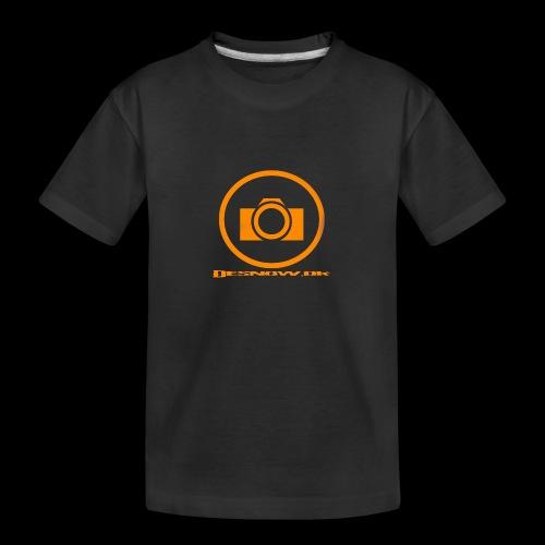 Orange 2 png - Teenager premium T-shirt økologisk