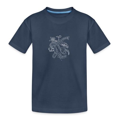 Fantasy hvid scribblesirii - Teenager premium T-shirt økologisk