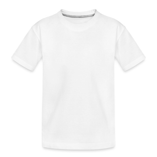 white logo transparent 2x - Teenager Premium Organic T-Shirt