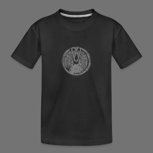 Maschinentelegraph (grå oldstyle) - Teenager premium T-shirt økologisk