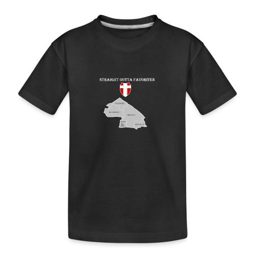 straight outta favoriten wien weiß - Teenager Premium Bio T-Shirt