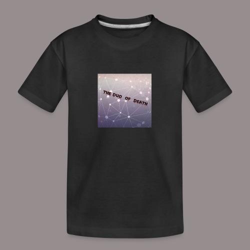 The duo of death logo - Teenager premium biologisch T-shirt