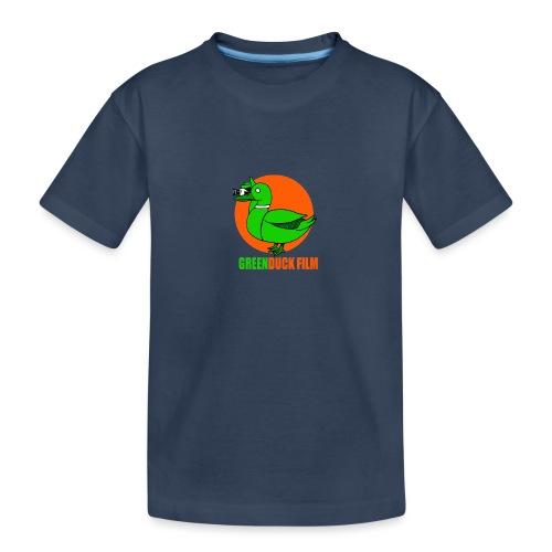 Greenduck Film Orange Sun Logo - Teenager premium T-shirt økologisk