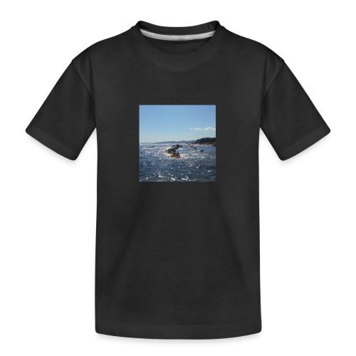 Mer avec roches - T-shirt bio Premium Ado