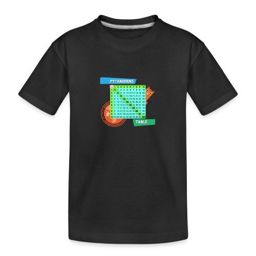 Pythagoras table - Premium økologisk T-skjorte for tenåringer