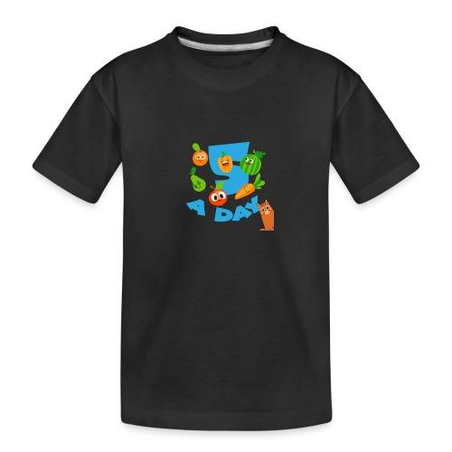 Duna five a day - Premium økologisk T-skjorte for tenåringer