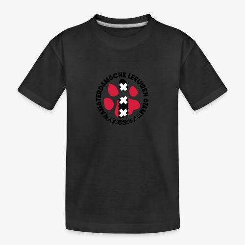 ALS witte cirkel lichtshi - Teenager premium biologisch T-shirt