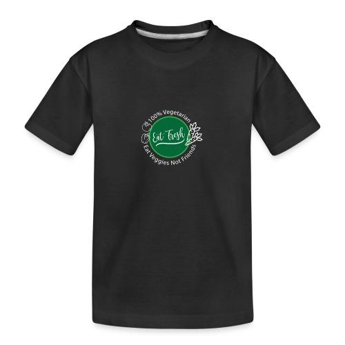 Gezond eten vegetarische t-shirt - Teenager premium biologisch T-shirt