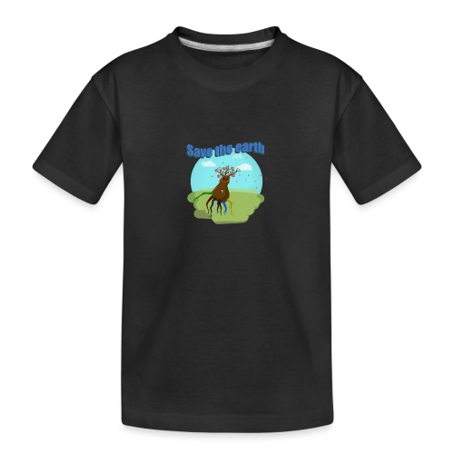 SAVE THE PLANET - T-shirt bio Premium Ado