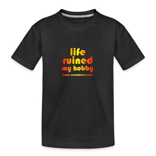 life ruined my hobby sunburst - Teenager Premium Organic T-Shirt