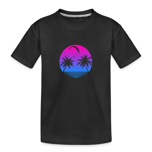 Paragliding Sunset - Teenager Premium Bio T-Shirt