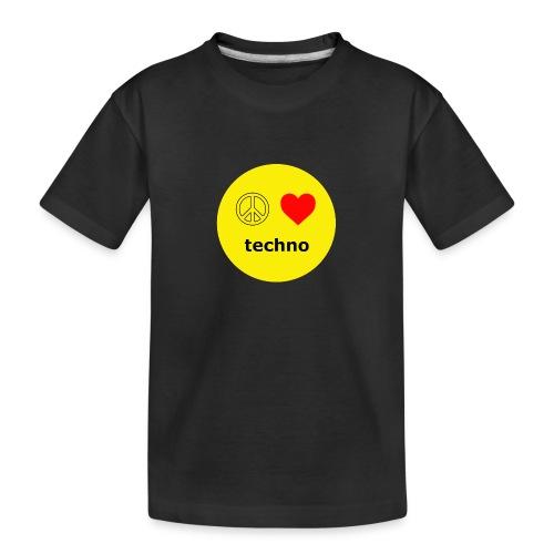 paz amor techno - Camiseta orgánica premium adolescente