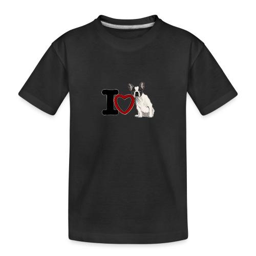 I Love Bouledeogue Français - T-shirt bio Premium Ado