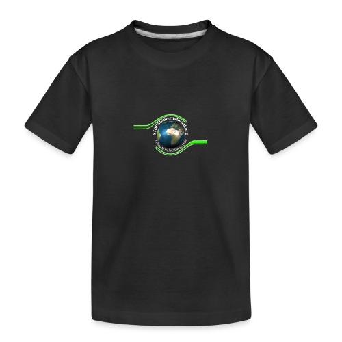 LOGO white font - Teenager Premium Organic T-Shirt