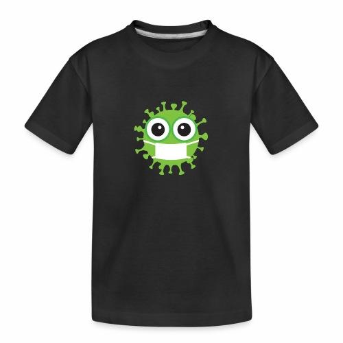 Uśmiechnij się pod maską - Ekologiczna koszulka młodzieżowa Premium