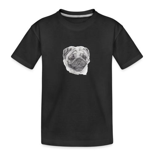 Pug mops 2 - Teenager premium T-shirt økologisk