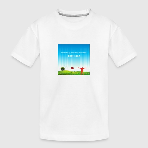Rolling hills tshirt - Teenager premium T-shirt økologisk