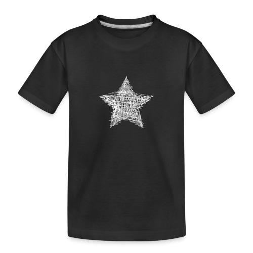 Estrella blanca - Camiseta orgánica premium adolescente
