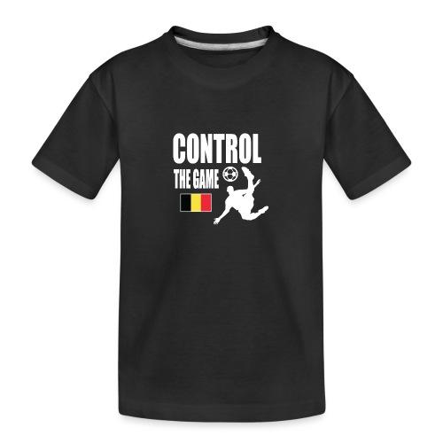 Control The Game Belgium - Teenager premium biologisch T-shirt