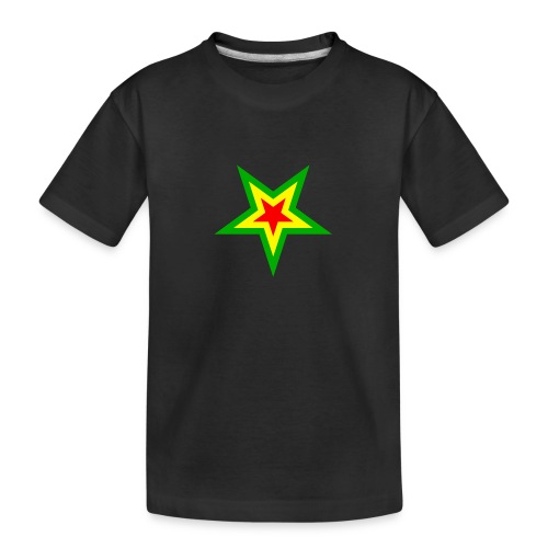 Stern rot, gelb, grün - Teenager Premium Bio T-Shirt