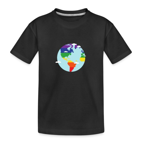 Erde | Regenbogen | LGBT | Amerika - Teenager Premium Bio T-Shirt
