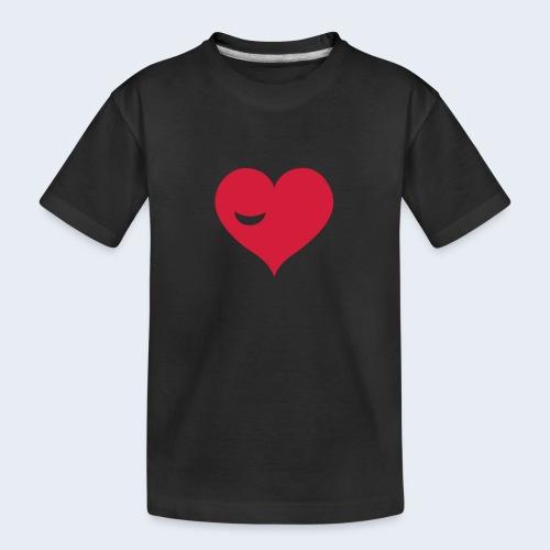 Winky Heart - Teenager premium biologisch T-shirt