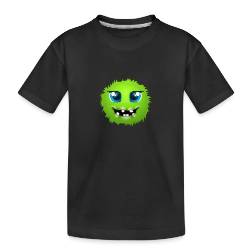 Grünes rundes Monster 18 - Teenager Premium Bio T-Shirt