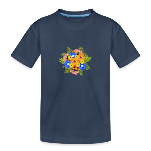 Blue Flower Arragement - Teenager Premium Organic T-Shirt