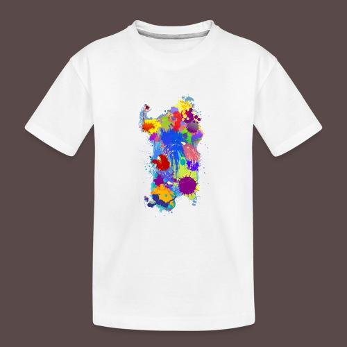 Sardegna Silhouette Paint - Maglietta ecologica premium per ragazzi