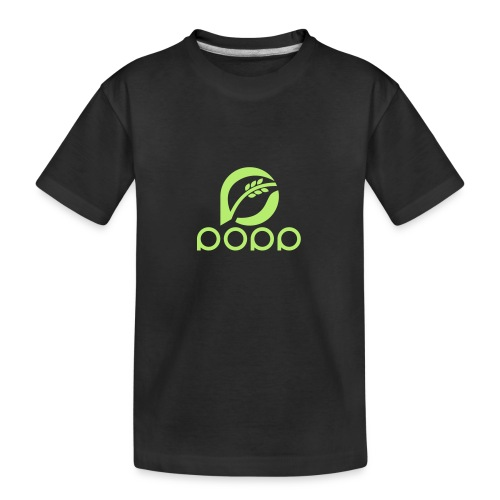 popp_logo_gruen - Teenager Premium Bio T-Shirt