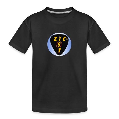 Zic izy rond dégradé bleu - T-shirt bio Premium Ado