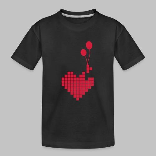 heart and balloons - Teenager Premium Organic T-Shirt