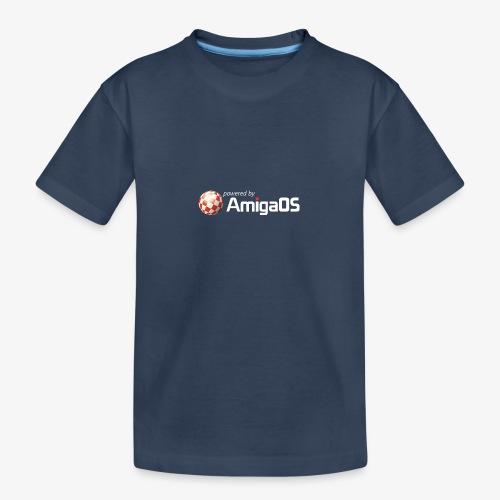PoweredByAmigaOS white - Teenager Premium Organic T-Shirt