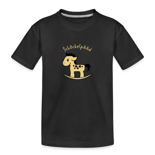 Schöckelpääd (Kölsch, Köln, Karneval, Pänz) - Teenager Premium Bio T-Shirt