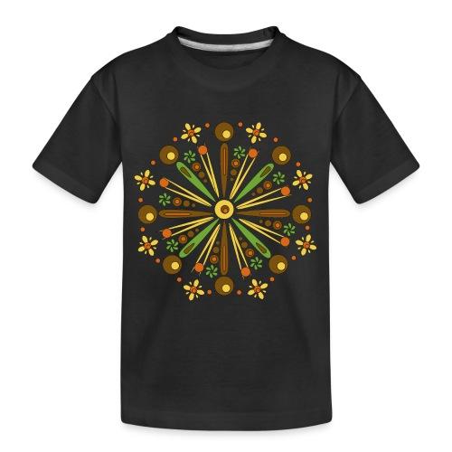 Mandala Herfst - Teenager premium biologisch T-shirt
