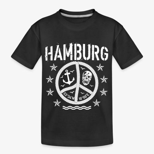 105 Hamburg Peace Anker Seil Koordinaten - Teenager Premium Bio T-Shirt