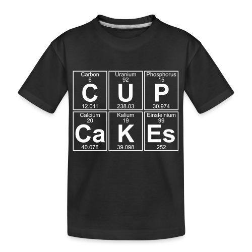 C-U-P-Ca-K-Es (cupcakes) - Full - Teenager Premium Organic T-Shirt