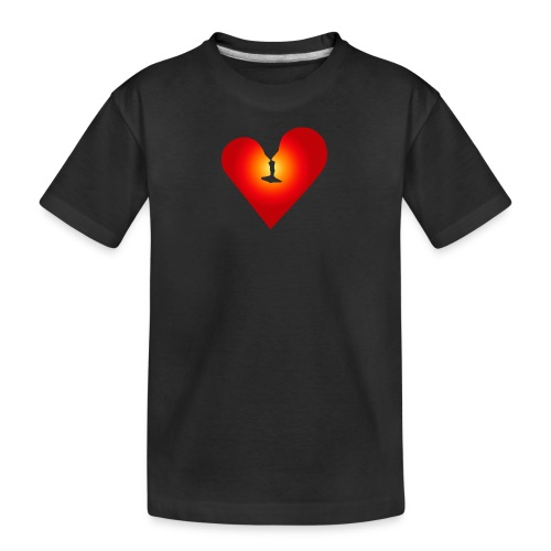 Ein Herz in Liebe - Teenager Premium Bio T-Shirt