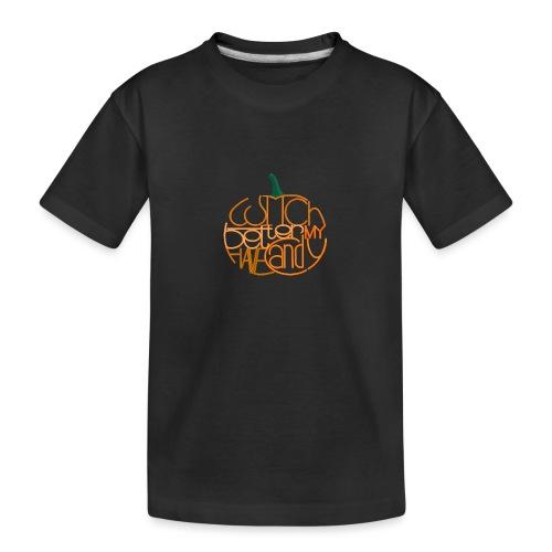 Græskar med citat - Teenager premium T-shirt økologisk